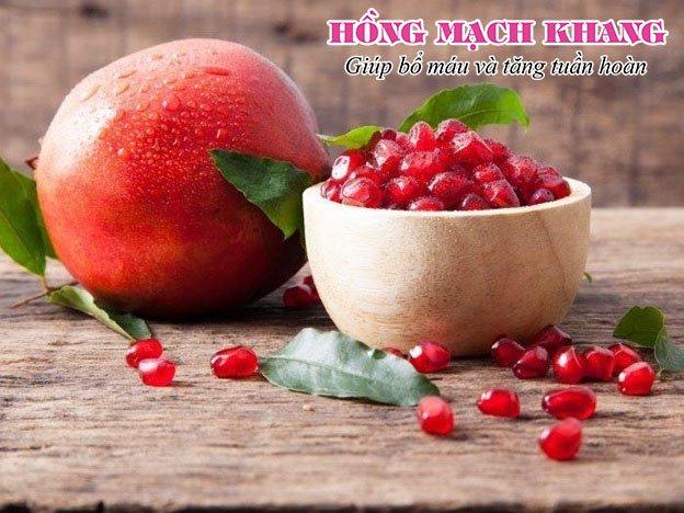 Lựu là loại trái cây tốt cho người thiếu máu